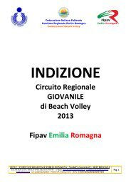 Indizione e Calendario Under 20 M/F Circuito Regionale. - FIPAV ...