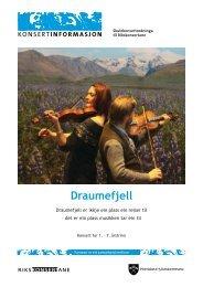 Konsertinformasjon Drømmefjell