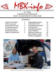 Vårmöte 2013 - Mariefreds Båtklubb
