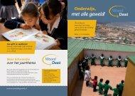 Folder Onderwijs met alle geweld - Woord en Daad