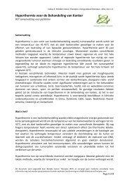 Hyperthermie voor de Behandeling van Kanker - Reliable Cancer ...