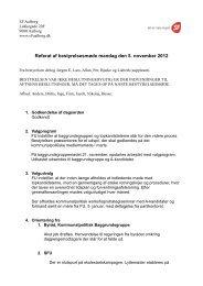 Referat af bestyrelsesmøde mandag den 5. november 2012 - SF