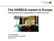 The HORECA market in Europe - Danske Vaskerier - DI