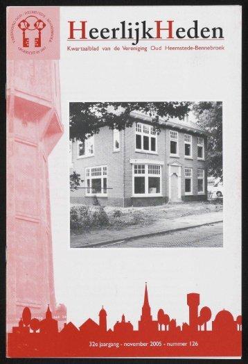 HeerlijkHeden - Historische Vereniging Heemstede-Bennebroek