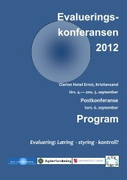 Program Evaluerings- konferansen 2012 - Agderforskning AS