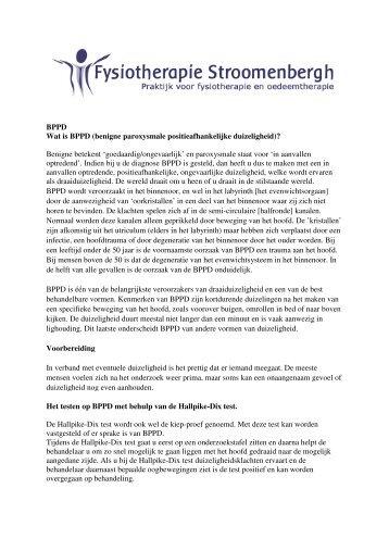 BPPD Wat is BPPD (benigne paroxysmale positieafhankelijke ...