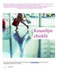Keuzelijst chicklit - Stad Harelbeke