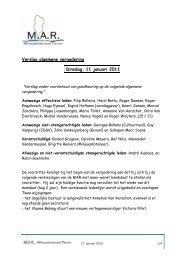 Gedeeltelijk verslag vergadering milieuadviesraad ... - Stad Tienen