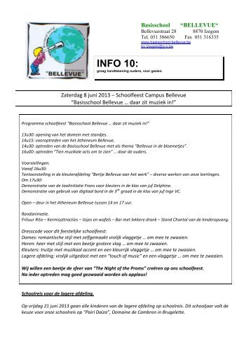 Info 7 - Basisschool Bellevue in Izegem