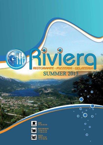 menu 2013 - Ristorante Riviera