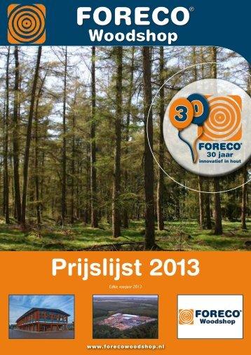 The Woodshop Prijslijst 2013 - Ijreka