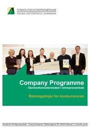 Retningslinjer for konkurrencen - Fonden for Entreprenørskab