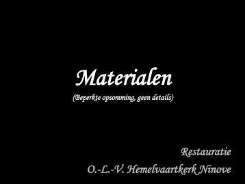Materialen - Dekenaat Ninove