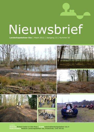 Nieuwsbrief Maart 2012 - Landschapsbeheer Oss