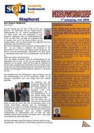 Nieuwsbrief 2009 voorjaar - SGP Staphorst
