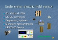 Underwater electric field sensor and amplifier - Nano Connect ...