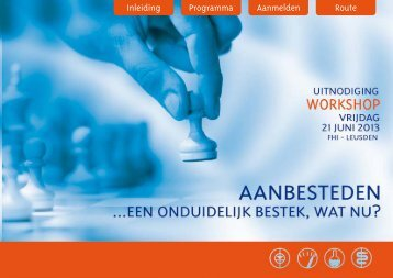 Workshop Aanbesteden - Laboratorium Technologie - FHI, federatie ...