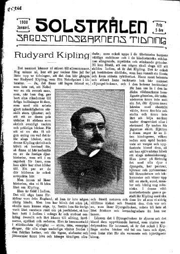 Solstrålen : sagostundsbarnens tidning januari 1908