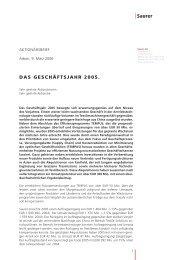 DAS GESCHÄFTSJAHR 2005. - Barmag