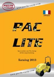 Katalog 2013 - PACLITE Equipment