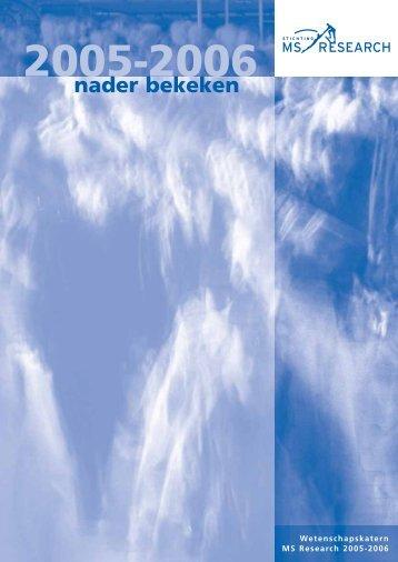 Wetenschapskatern 2005-2006 - Stichting MS Research