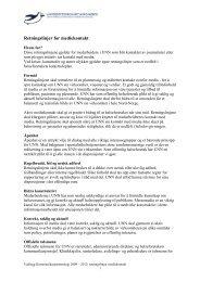 Retningslinjer for mediekontakt - Universitetssykehuset Nord-Norge