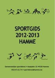 de sportgids - Jeugd Hamme