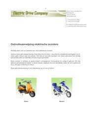 Gebruiksaanwijzing elektrische scooters - Welkom bij de Electric ...