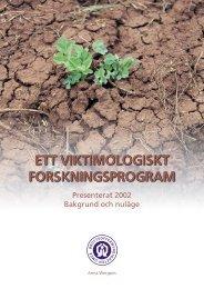 Viktimologiskt forskningsprogram - Brottsoffermyndigheten