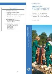 Påmelding til kurs Gården som pedagogisk ressurs