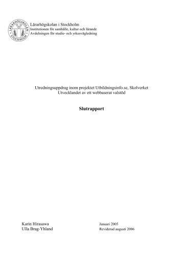 LHS rapport slutversion juli 06.pdf - Utbildningsinfo.se