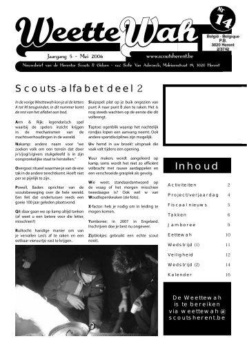 Inhoud Scouts-alfabet deel 2 - Scouts en Gidsen Herent
