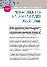 INDIKATORER FÖR HÄLSOFRÄMJANDE OMVÅRDNAD - Svensk ...