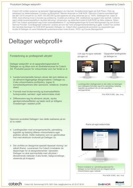 Webområdeprofil forslag