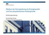 Stärken der Kernspaltung als Energiequelle und ihre ... - CERN
