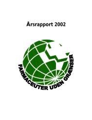 Årsrapport 2002 - Farmaceuter uden Grænser