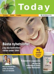 January 2004 - Köp Herbalife Produkter