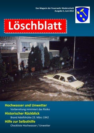 Hochwasser und Unwetter - bei der Feuerwehr Niederscheld