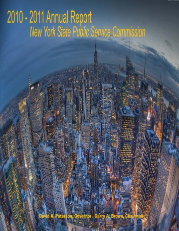 2011 Annual Report - New York State Public Service Commission