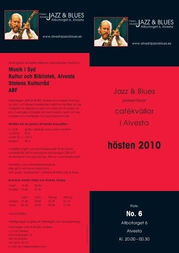 hösten 2010 - Alvesta Jazz & Blues