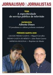 A especificidade do serviço público de televisão Alberto Dines