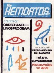 Min Hemdatortidning nr 2, 1984 - stonan.com