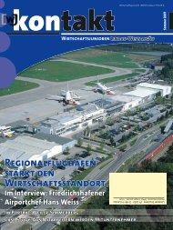 Regionalflughafen stirkt Wirtschaftsstandort