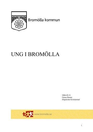 Bromöllas rapport: Ung i Bromölla (pdf, 792 kb) - Ungdomsstyrelsen