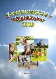 V@st&Zeker Zomernummer 2009 - Christelijke Jeugdkampen