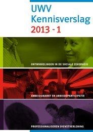 UWV Kennisverslag 2013 - 1