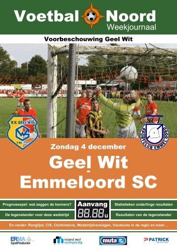 Geel Wit Emmeloord SC - VV Geel Wit