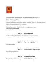Protokoll fört vid styrelsemöte för Falu Brukshundklubb den 5/9 2011 ...