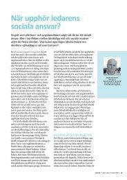 När upphör ledarens sociala ansvar? (2012) - GIH