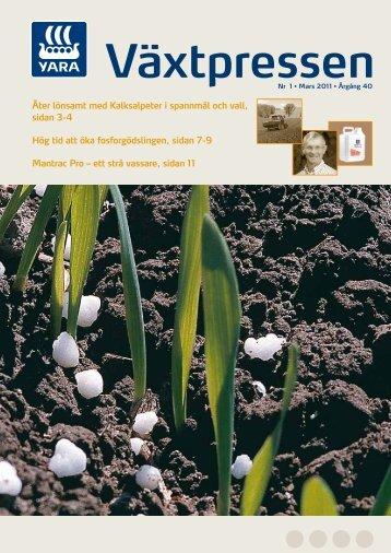 Växtpressen - nr. 1/2011 - Yara